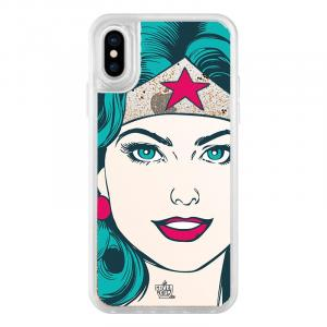 Official Wonder Women Face Glitter Clear Case