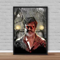 Kaala Thunder Fighter Rajini Poster